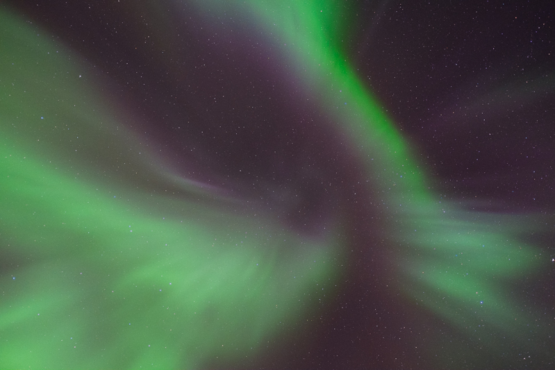 The aurora over Troms