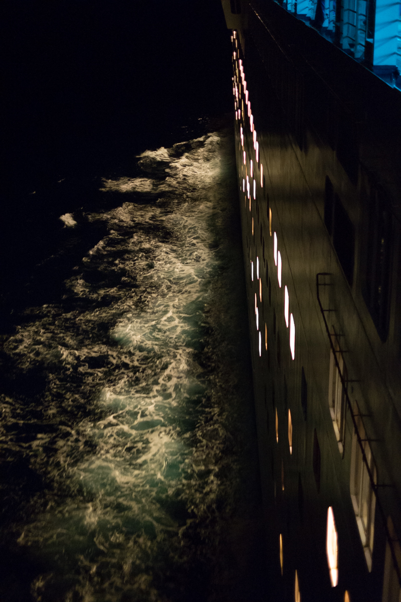 The Sea over the Side of a Cruise Ship